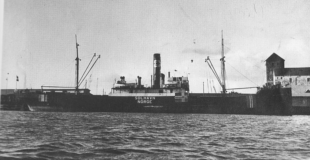 D/S«Solhavn» kilde: «Våre gamle skip» Foto tatt i Åbo i Finland høsten 1939. ukjent fotograf. Lokalhistorisk Stiftelse 1996